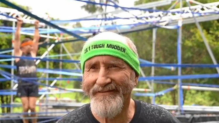 WARRIOR: Terry White, 72, was one of the oldest competitors.