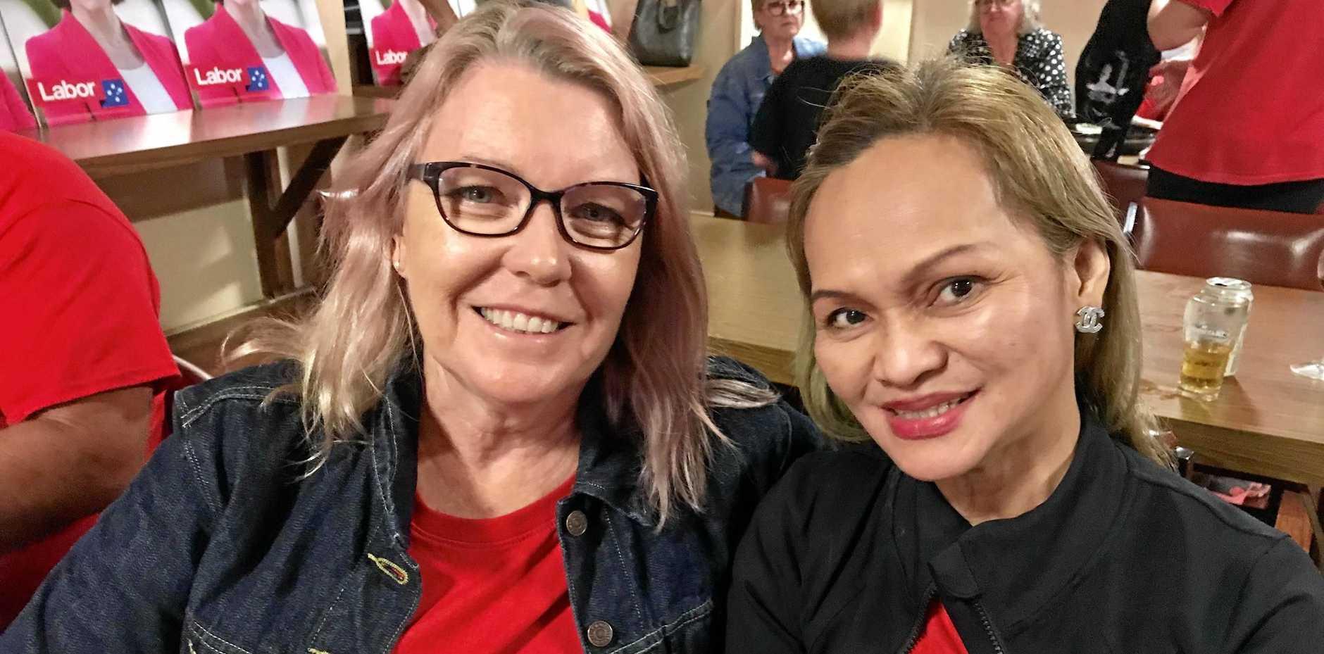 Susan McKay and Oflia Waters.