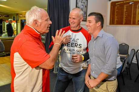 Labor candidate for Flynn Zac Beers is holding a party at the Gladstone Yacht Club on the night of the 2019 federal election surrounded by some of his volunteers and supporters.