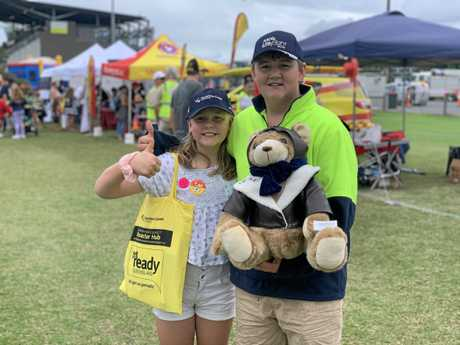 Isabella and Alex Lee loved checking out all the different stalls at the Emergency Services Expo at Sunshine Coast Stadium on Sunday.