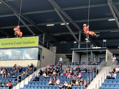 ACTION PACKED: Families flocked to Sunshine Coast Stadium to the Emergency Services Expo on Sunday afternoon.