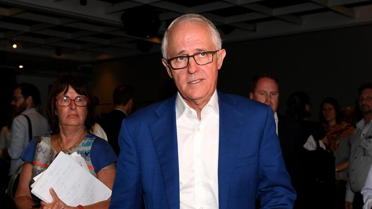 Former prime minister Malcolm Turnbull called Scott Morrison's win 'an outstanding personal victory'. Picture: AAP/Dan Himbrechts