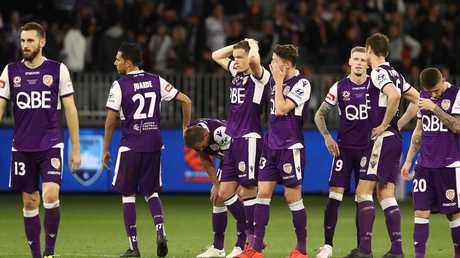 Perth players can't quite believe they have fallen short.