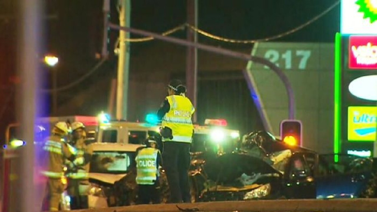The scene of the horrific crash at Windsor, in which two people died/ Picture: ABC
