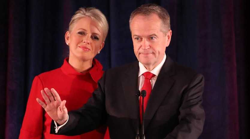Bill Shorten wife Chloe concedes defeat following the results of the federal election. Picture: Scott Barbour/Getty