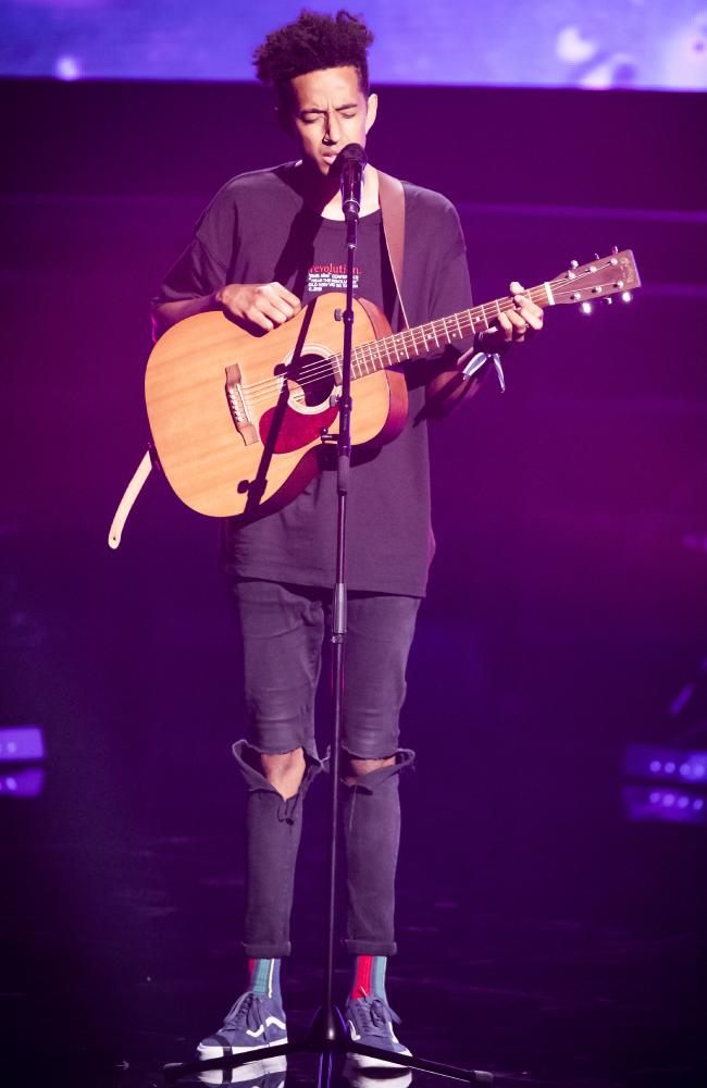 Queensland's Zeek Power impressed all four coaches during the first episode of season 8 of The Voice. Photo: Channel 9