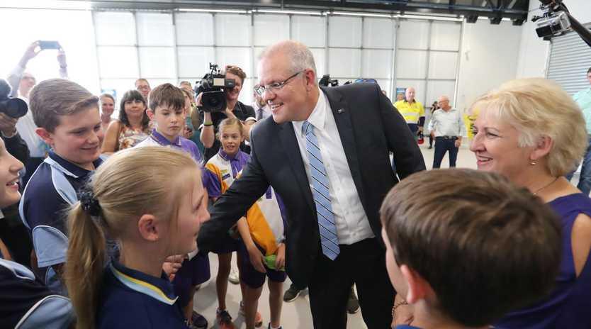 Prime Minister Scott Morrison on the campaign trail. Picture: Alex Coppel