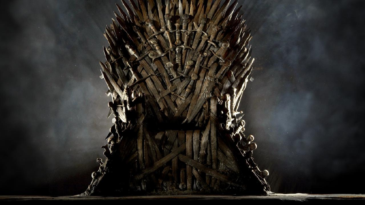 The Iron Throne of the Seven Kingdoms, from the TV series 'Game of Thrones'.