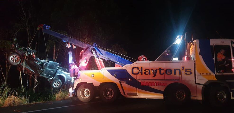 A 28-year-old man was killed in a late night crash on the Sunshine Coast. Picture: Clayton's Towing