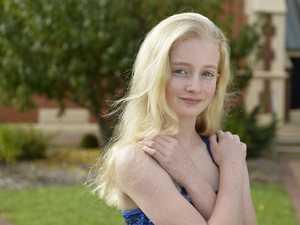 Fairholme College student Caitlin Mohr as a mermaid