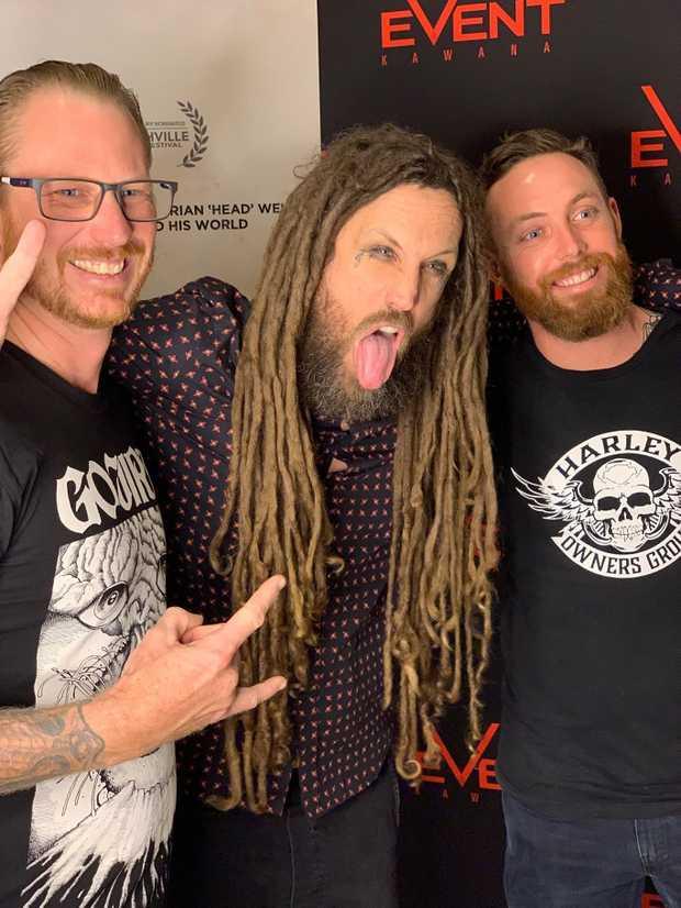 Korn guitarist Brian 'Head' Welch meets fans at the Sunshine