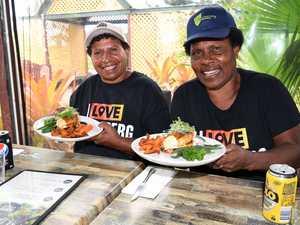 PNG sweet potato farmers Agnes Merep Gal and Rachael