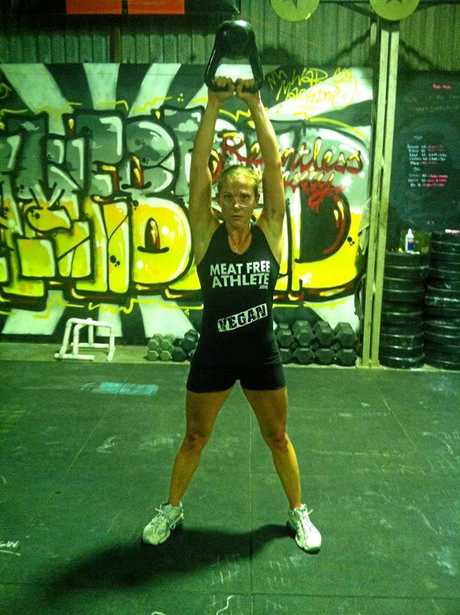 MMA fighter and Sunshine Coast resident Claire Fryer training.