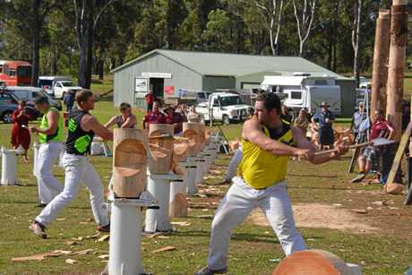 Competitors in action at Blackbutt.