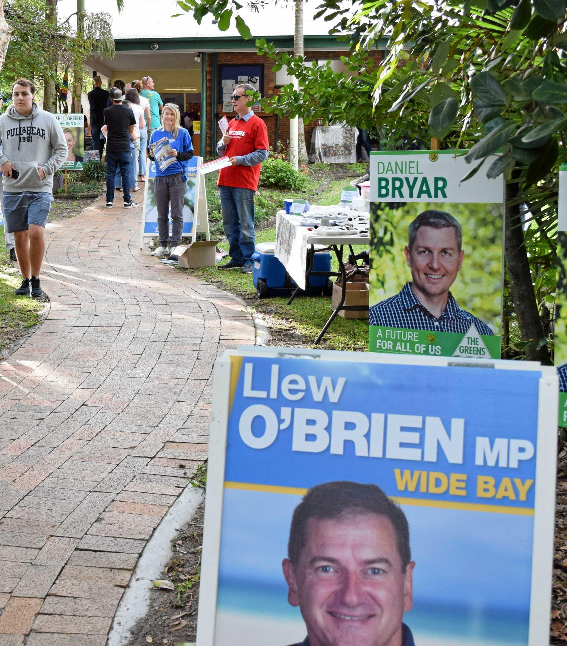 WIN: Polling in Peregian.