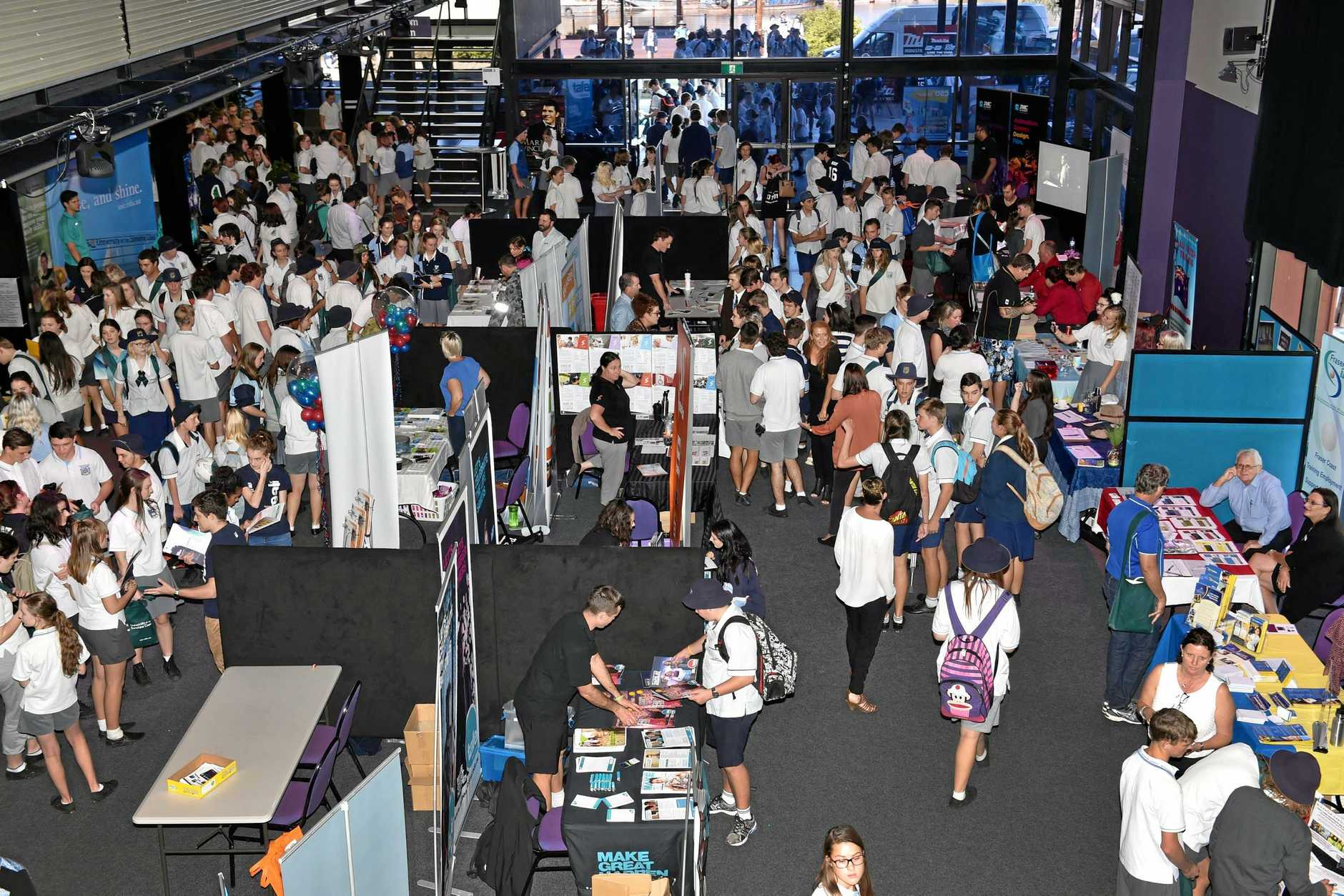 A past Fraser Coast Careers Expo. This year's event will provide plenty of information about employment.