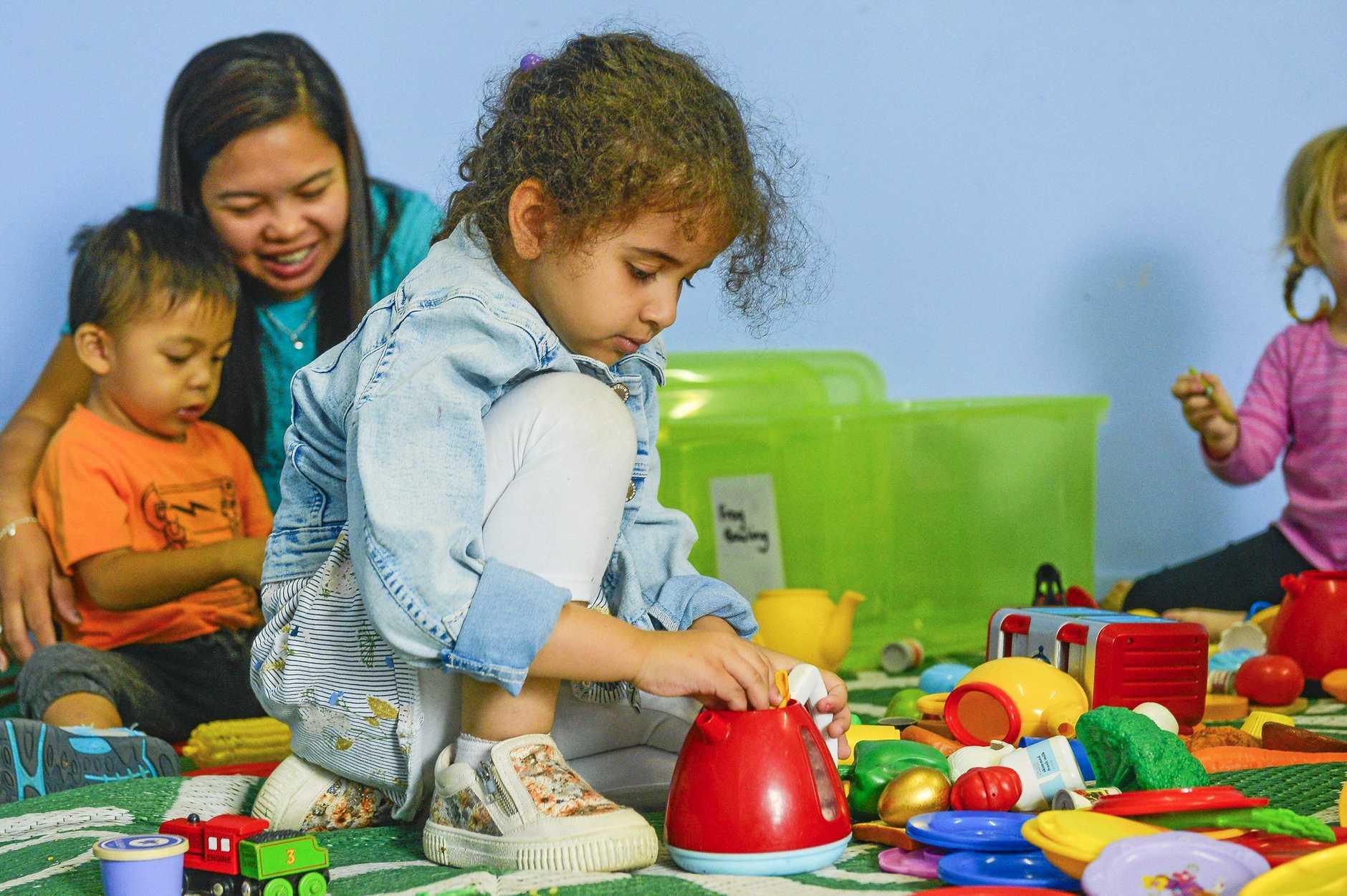 UNDER 8S WEEK: Jenna at Gladstone's GAPDL Communities for children precinct.