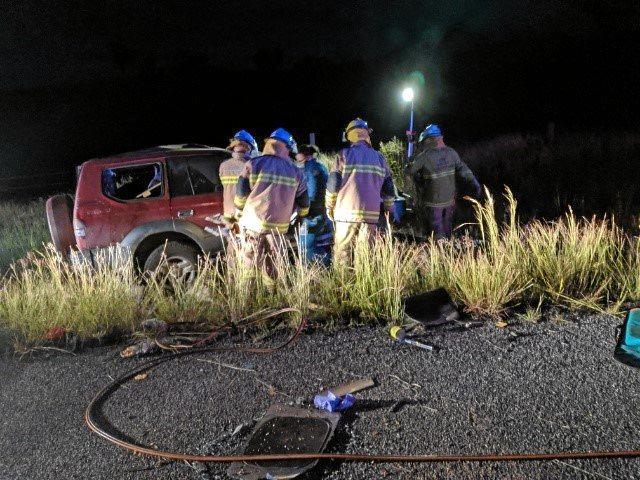 AIRLIFTED: A 26-year-old man was airlifted to Brisbane with suspected spinal injuries after his car rolled over on the Gayndah-Mundubbera Road on May 18.