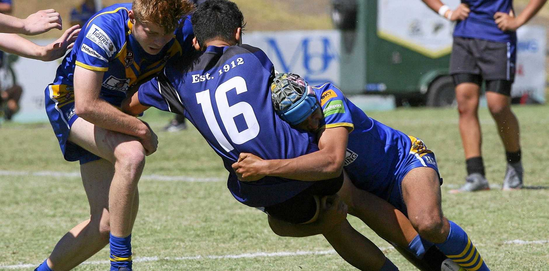 TOP TECHNIQUES: Juniors must be taught the right way to tackle according to Ipswich Diggers 20s coach Chris Doyle.