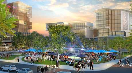 Plans for a new town square, Otranto Ave street park, increased mixed-use development, a gateway into Bulcock St and improved community facilities will all help to shape the Caloundra CBD.