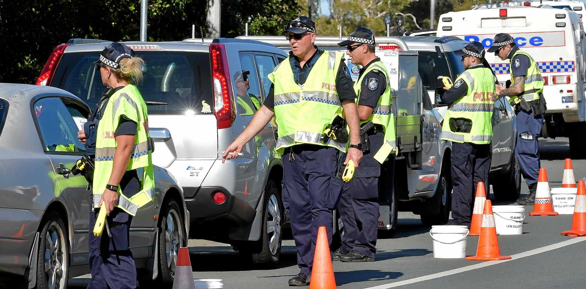 POLICE conducting roadside breath tests nearby watched as a drink driver got out of her car and swapped seats with her passenger, a court was told.