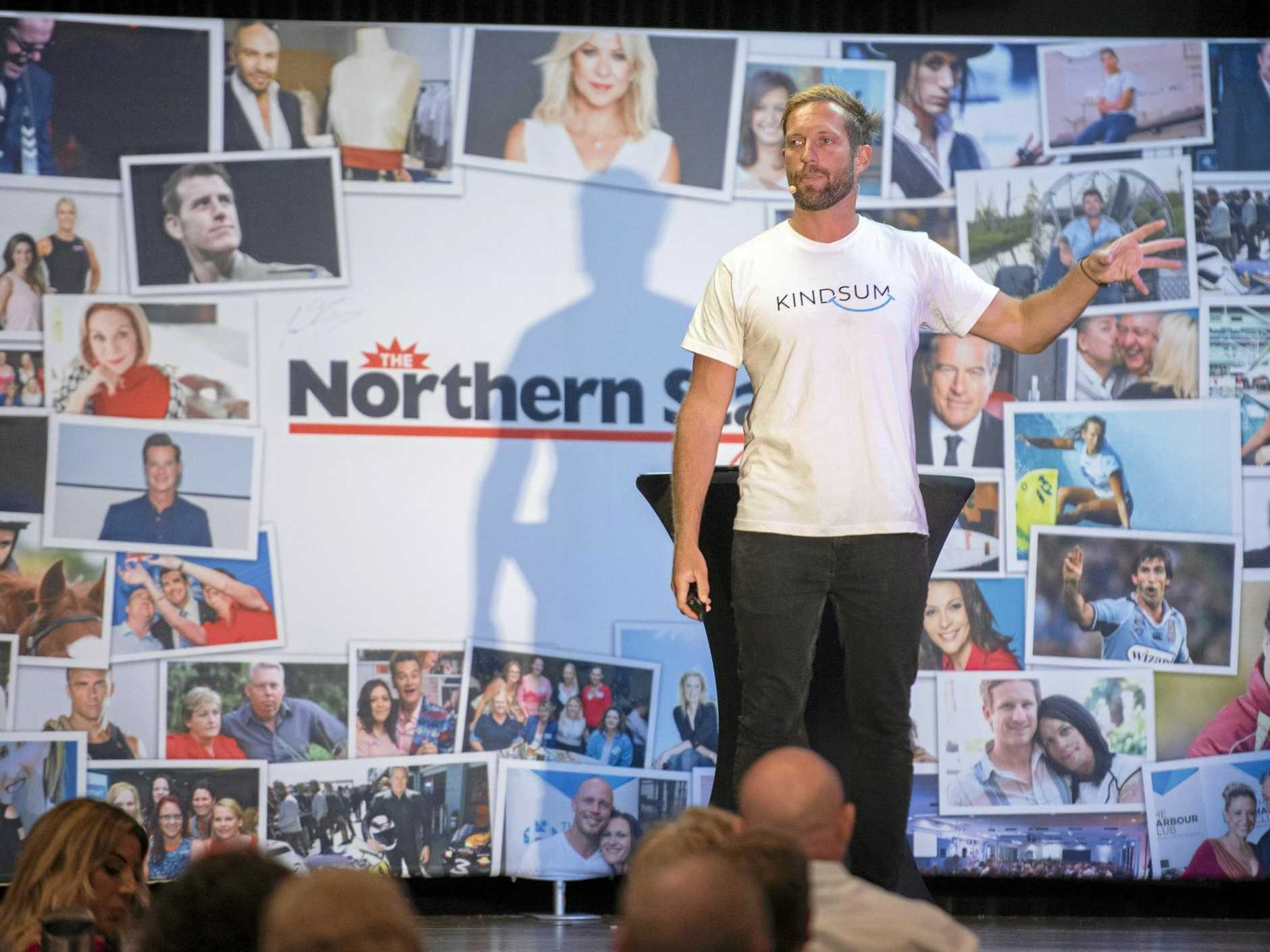 Sebastian Terry speaking at The Northern Star Club event at Ballina RSL on Friday night.