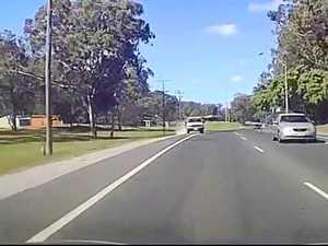 Dash cam footage shows teen's shocking near-miss