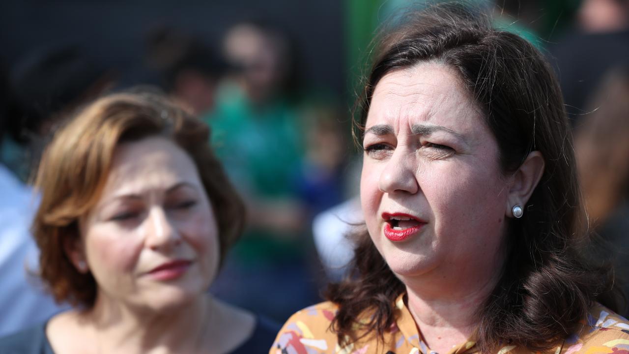 Premier Anastasia Palaszczuk and Jackie Trad. Picture: Peter Wallis