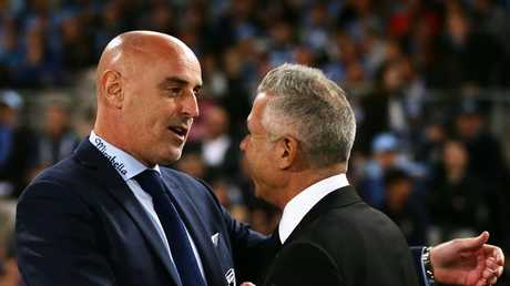 Muscat's last A-League game in charge was the 6-1 thrashing at the hands of eventual champions Sydney FC. Picture: Getty