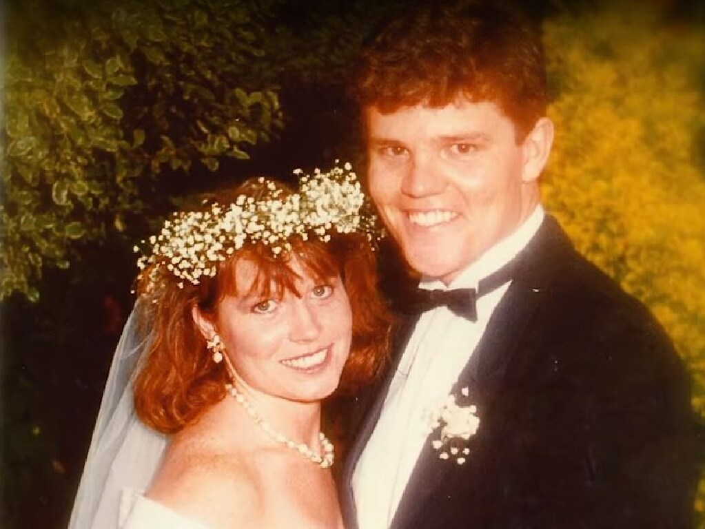 Young love... Scomo and Jenny on their wedding day. Picture: Supplied