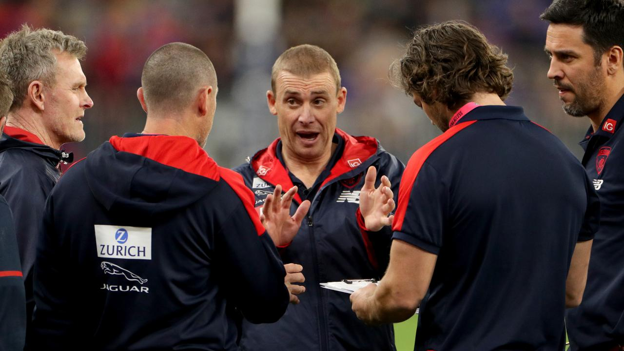 Melbourne's brains trust has plenty to ponder. Picture: AAP Image/Richard Wainwright.