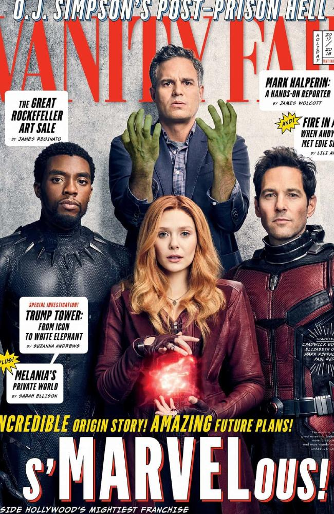 Thankfully, Olsen became part of one of the biggest ever franchises with the Marvel movies. Picture: Jason Bell/Vanity Fair