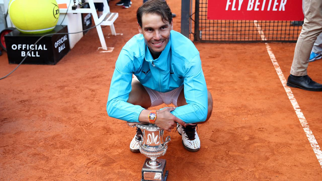 Rafael Nadal broke his title drought in the International BNL d'Italia in Rome. (Photo by Clive Brunskill/Getty Images)