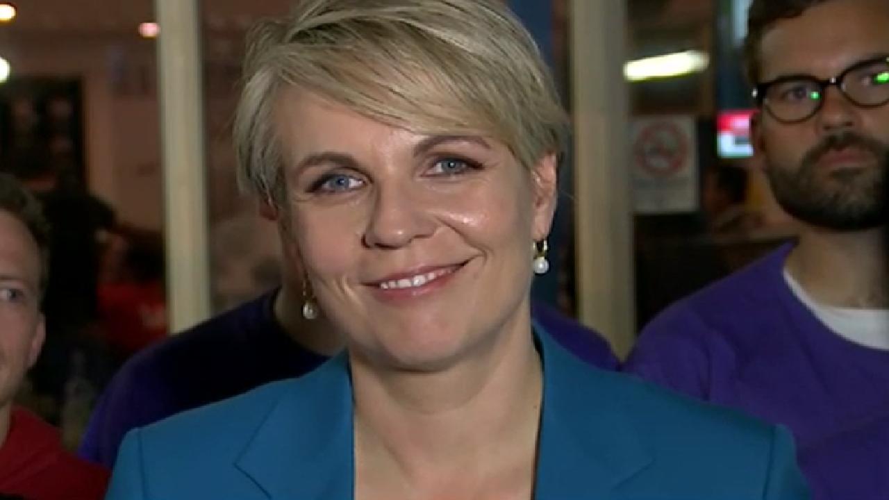Tanya Plibersek on election night. Picture: ABC News