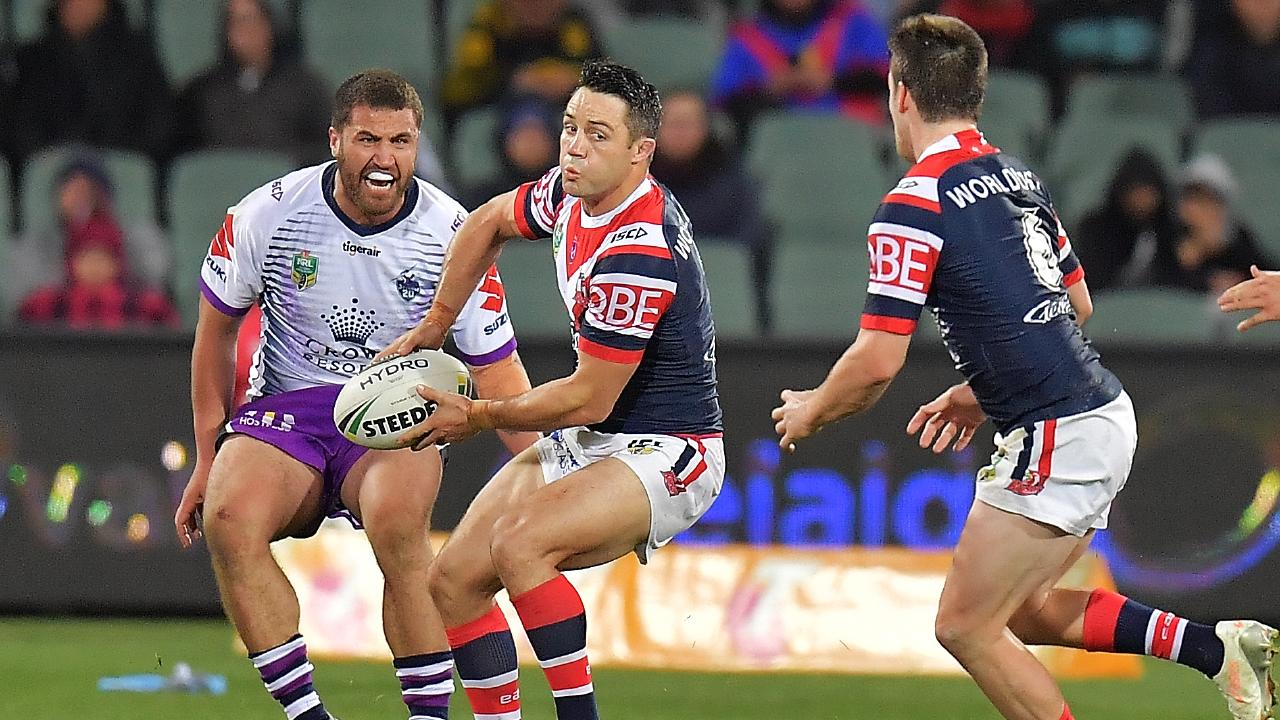 Cooper Cronk will again lead the Roosters around the park. Picture: Daniel Kalisz/Getty Images