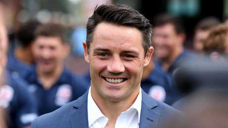 Cooper Cronk after announcing his retirement. (AAP Image/Danny Casey)