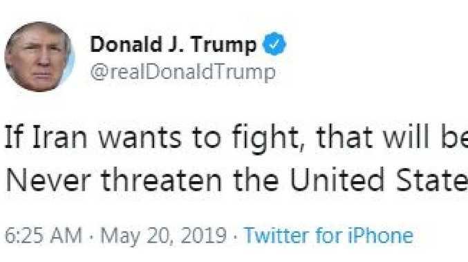 Trump threatens to 'end' Iran