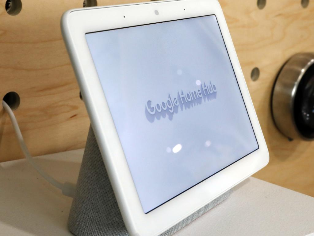 The Google Home Hub is displayed in New York. Picture: AP