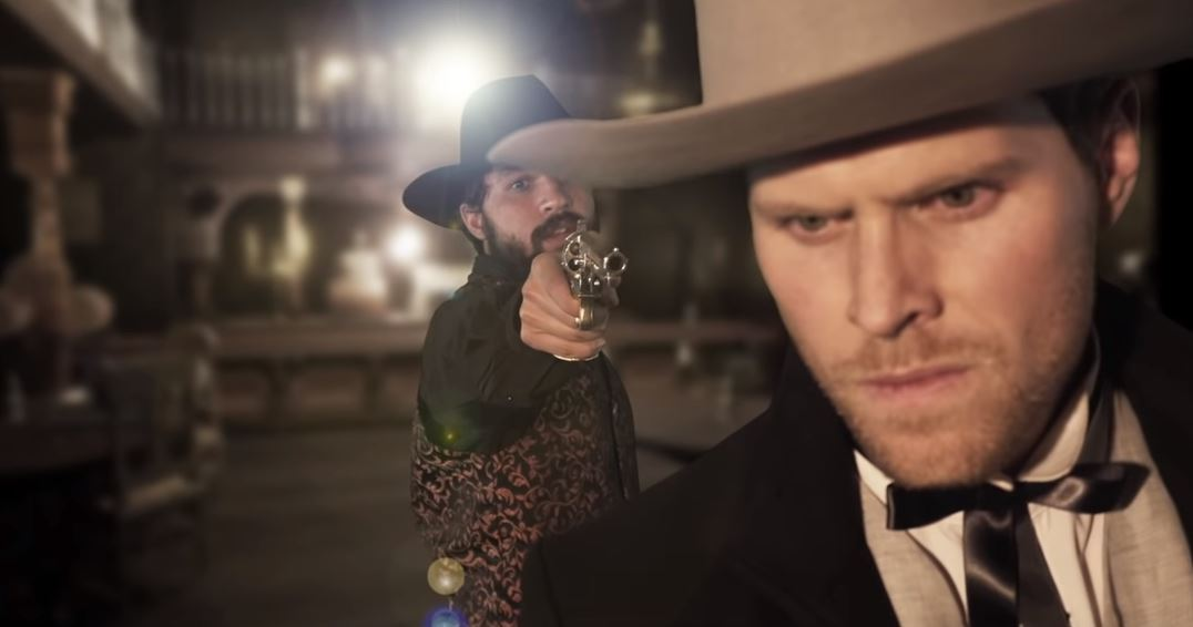 A still from the trailer of new spaghetti western Blackwater, shot in Toowoomba.