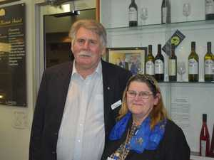Event organiser, Jim Barnes with Julie Beddow.