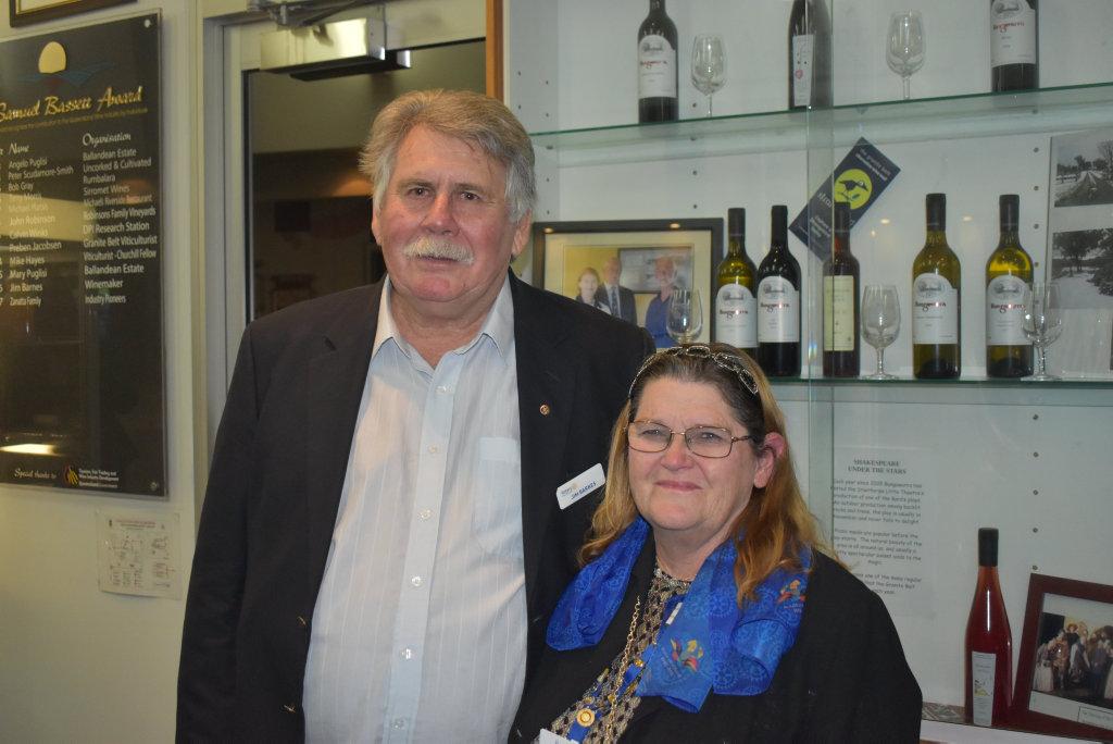 Image for sale: Event organiser, Jim Barnes with Julie Beddow.