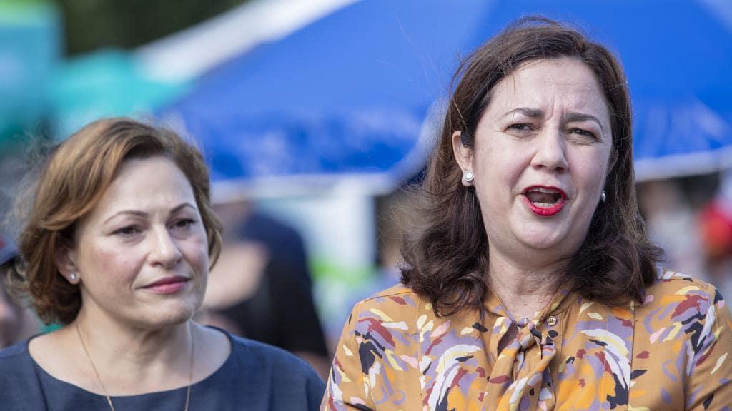 Deputy Premier Jackie Trad and Premier Annastacia Palaszczuk. Picture: AAP/Glenn Hunt