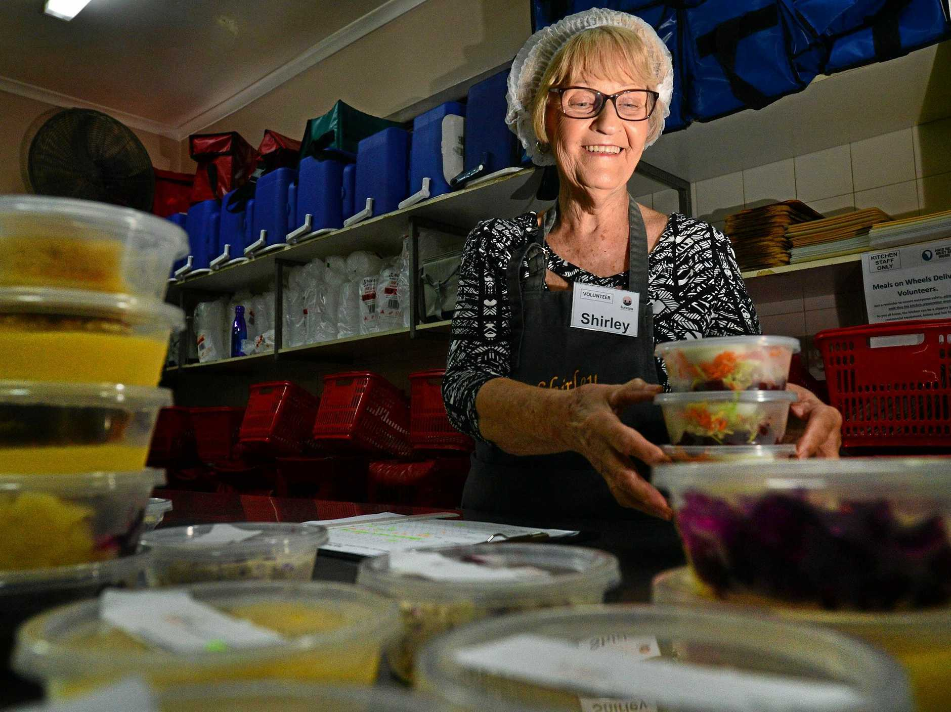 FULL TUMMIES: Shirley Friedrich has been a volunteer at Meals on Wheels for 25 years.