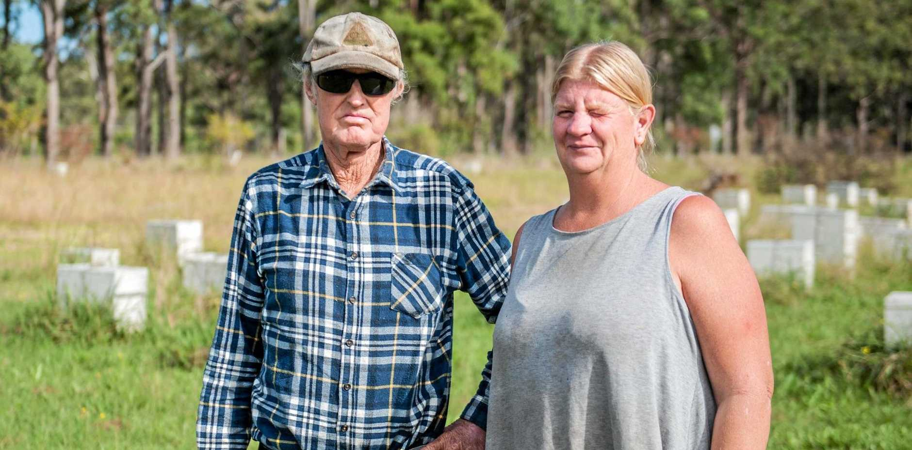 FEELING THE STING: Alan Elks and Jenny Corbet fear for the future of the industry.