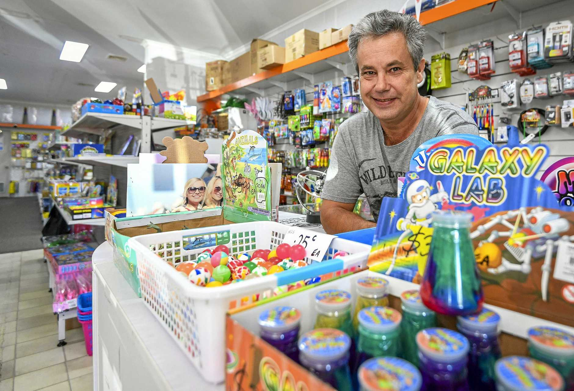 BUY LOCAL: Colin Jarman is the owner of BITS Discounts on Hampton Drive, and is taking part in the Town Proud Campaign.