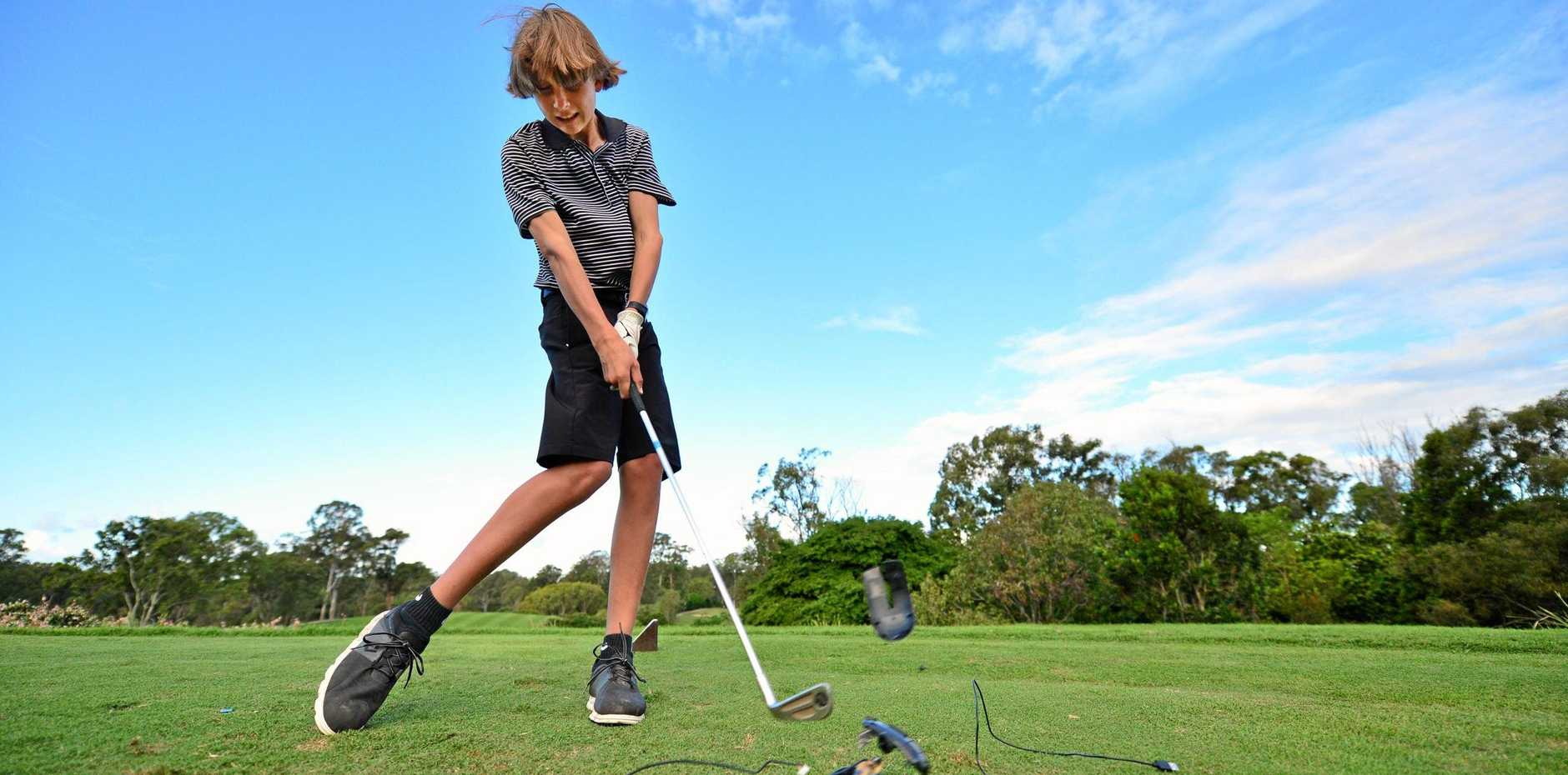 Promising golfer Josh Holbrook has done away with video games and returned to the golf course.