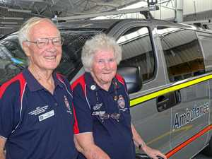 Couple put in 50 years with ambo service