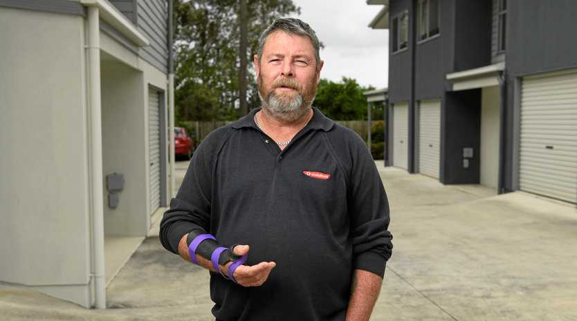 John Sims is having a battle with QSuper after he was involved in a workplace accident