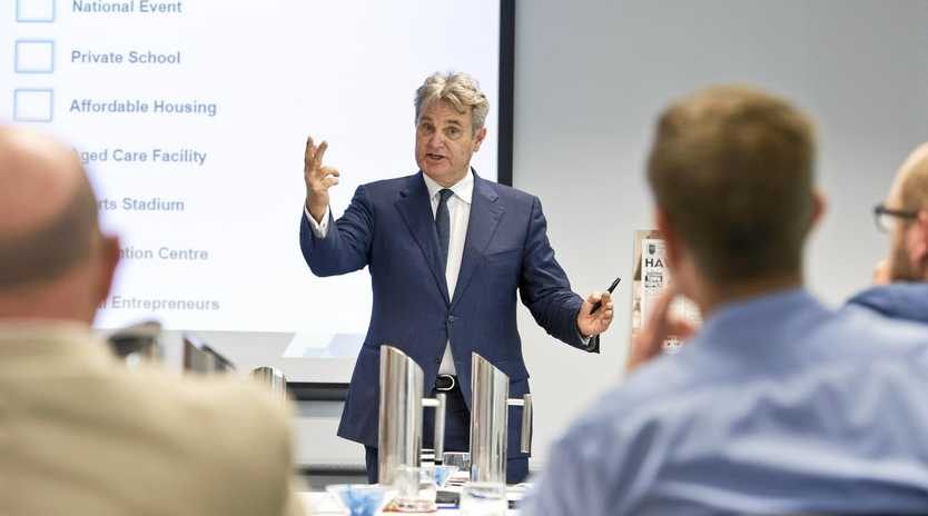 FUTURE TOOWOOMBA: Australia's leading demographer Bernard Salt was in Toowoomba on Friday to present to a Future Toowoomba workshop at The Chronicle.