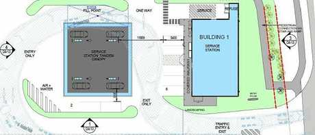 The proposed site of the Kirkwood Rd Service station